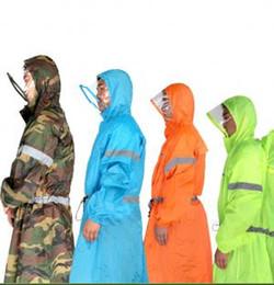 capa de chuva outdoor mochila Desconto Mochila reflexiva Capa de Chuva 4 Cores Unisex Capa de Chuva Ao Ar Livre de Uma peça Chuva Poncho Cape Jacket Para Caminhadas Camping Ciclismo OOA6172