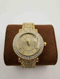 bracelet en diamant de champagne Promotion Marque mk Montre À Quartz Dames De Mode Or Montre-Bracelet Diamant En Acier Inoxydable Femmes Montre-Bracelet Femme Horloge Heures Haute Qualité relogies