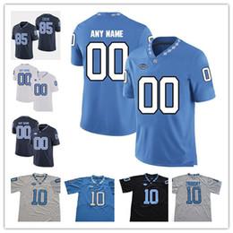 futebol norte Desconto UNC North Carolina Tar Heels faculdade 10 Trubisky 49 Julius Peppers 98 Lawrence Taylor 85 Eric Ebron azul branco preto camisas de futebol S-3XL