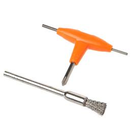 T-Type Cacciavite + Kit spazzola di pulizia Serbatoi di sigaretta elettronica Serbatoi di riscaldamento Utensili fai da te da