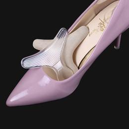 2019 scarpe a forma di piede Silicone Back Heel Liner T-shape anti-attrito Cuscino in gel Cuscino Soletta Scarpe da ballo alte Impugnature per scarpe Cura del piede RRA956 scarpe a forma di piede economici
