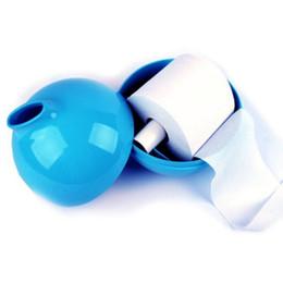 Titular de papel higiénico cubierto online-Bola redonda Pote de papel Tejido de moda simple Caja de papel higiénico impermeable Titular de la cubierta