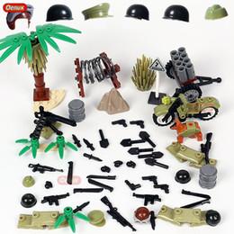 ladrillos juguetes ejército Rebajas Oenux Classic World War II Hacksaw Ridge USA Army Military Building Block WW2 Soldados estadounidenses Figuras con armas Ladrillo de juguete para niño