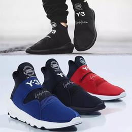 New Top Quality Y-3 Suberou Uomo Donna Slip On Scarpe Casual Tutto Nero  Bianco Rosso Blu Yohji Y3 Sneakers Taglia 36-44 afe3f4c3115