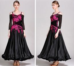 2019 Neue schwarze Standardkleider für Gesellschaftstanz Walzer Modern Dance Dress Gesellschaftstanz Turnierkleider Foxtrot Dress von Fabrikanten