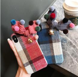Cassa del telefono a maglia online-Fashion Phone Phone Case per IphoneX XS XR XSMAX Iphone7 / 8Plus Iphone7 / 8 Iphone6 / 6sP 6 / 6s Designer Cover posteriore Knitting Phone Case 4 colori