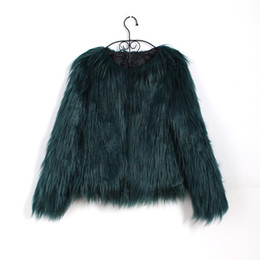xl hair Coupons - Bigsweety Floating Hair Jacket Fur Coat Women Fur Overcoat Imitation Faux Fox Jackets Hairy Party Warm Coat Plus Size