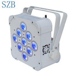 Батарея водить dmx водить онлайн-SZB 9X10 Вт 4 в 1 RGBW Беспроводной DMX с питанием от батареи Номинальный свет / SZB-WBPL0910