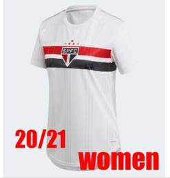 Die kundenspezifischen hemden der frauen online-2020 2021 Sao Paulo Frauen Fußball-Trikots Pato Nene Pablo Hernanes Helinho Jucilei Custom Home Away Womens Youth Football Hemd