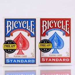 2019 mazos de cartas de bicicleta 2 unids / set EE. UU. Native Bicycle Deck Redblue Regular Playing Cards Rider Back Estándar Magic Trick 808 Decked Decks Q190617 mazos de cartas de bicicleta baratos