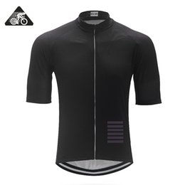 mtb gears Promo Codes - Classic ALL Black Italy Miti fabric Mens PRO TEAM AERO Race Cycling Jersey Road Mtb Short Sleeve Bicycle Shirt bike gear 2018