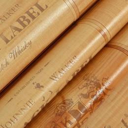 2019 chinesische wandschnitzereien Wholesale- Vinyl-PVC-Holz-Box Tapete 3D-Effekt Dekor Cork Plaid Wine Box Kulisse Tapete Holz Vintage Hintergrund Wand wallpap