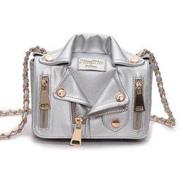 Chaqueta de cadena cruzada online-Personalizado Moda Diversión Chaqueta de solapa Styling Messenger Bag Mujer Bolso Monedero Cadenas Bolso de hombro de señora Cross Bolsas de cuerpo