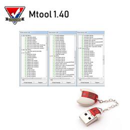 Software de milhagem on-line-MTool V1.40 Ajuste o Mileage Mudança de Carros OBD M BUS Car Quilometragem Programador Mileage Software ferramenta de correção e adaptador