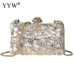 white wedding clutches Coupons - Diamonds Evening Bag party wedding Crossbody messenger Bag Fashion Clutch Designer Chain Women female 2018 new trendy