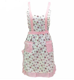 Модели перронов онлайн-Women Lady Restaurant Home Kitchen For Pocket Cooking Cotton Apron Bib Flower Pattern jan19