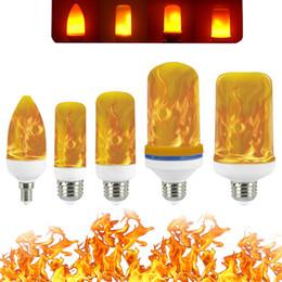 галогенные лампы Скидка Полная модель 3W 5W 7W E27 E26 E14 LED пламени лампы 85-265 LED эффект пламени пожара лампочки Мерцание Эмуляция Декор светодиодные лампы