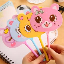 rouge à lèvres pour enfants en gros Promotion Animal Fan stylo à bille dessin animé enfants cadeau mignon papeterie créative arc ours écrit stylo cap stylo à bille 57