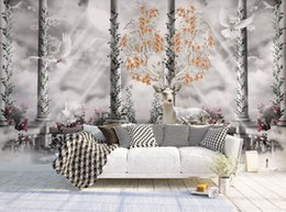 metallic paper rolls Promo Codes - 3d wallpaper Custom fashion Creative landscape European TV background wall paper