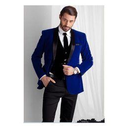 c78c2e4d2 ternos sob medida Desconto New Royal Blue Velvet Noivo Smoking 2019 ternos  groommens   Bespoke Um