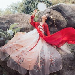 2020 ropa estilo festival Hanfu Ancient Chinese Costume Dress Koi Traditionl Chinese Clothing for Women Fairy Design Style Daily Festival Outfits Dance rebajas ropa estilo festival