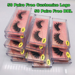 viel make-up  Rabatt 1pair / lot 3D Mink Wimpern Hand Made Gewirr falsche Wimpern Cruelty Free Dramatisches 3D Mink Lashes für Schönheit Make-up