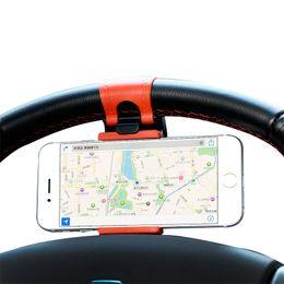 2019 suporte de direção de carro Volante berço suporte do telefone do carro gps da bicicleta do carro suporte do telefone para iphone 7 8x xs max samsung s10 s9 s8 suporte de direção de carro barato