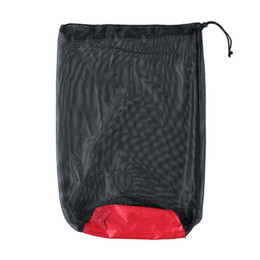mesh storage bag camping Promo Codes - Sleeping Bag Waterproof Sports Storage Bag Folding Mesh Sack Multifunction Camping Nylon Compression Travel Kits