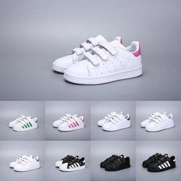 Adidas Superstar enfants chaussures garçons chaussures filles 2018 printemps automne hiver nouvelle arrivée mode super star chez les adolescentes