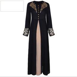 Argentina Vestidos de Dubai Vestido de noche Abaya Maxi Mujeres musulmanas Túnica Kaftan Vestido marroquí modesto Suministro