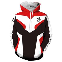 2019 mulheres vestido colonial Vingadores 4 Endgame Quantum Realm 3D Impressão Hoodies Super hero hoodies Das Mulheres Dos Homens Com Zíper Camisolas Casaco Traje Cosplay