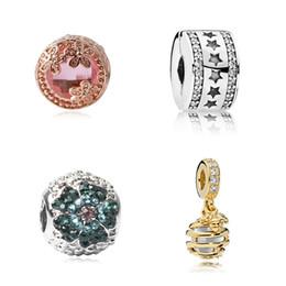 bracelet à fleurs style Promotion 4 Style Or Abeille Rose Fleur CZ Alliage Charme Perle De Mode Femmes Bijoux Superbe Style Européen Pour Pandora Bracelet
