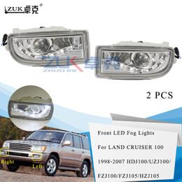 2pcs LED Front Bumper Fog Light For Toyota Land Cruiser LC100 FJ100 1998-2007