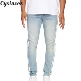 nuevos jeans clásicos de corte recto Rebajas CYSINCOS NUEVOS Jeans Hombres Slim Fit Pantalones Classic Jeans Hombre Denim Pantalones de diseñador Casual Skinny Straight Elasticity Pants