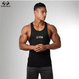 2019 gold jungs Mode Neue Golds Turnhallen Marke Bodybuilding Stringer Tank Top Männer Gym Brief Druck Fitness Muscle Guys Weste C19040301 günstig gold jungs