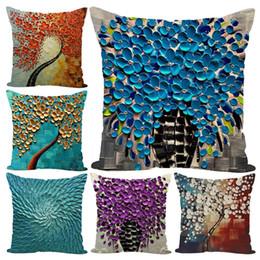 2019 pintando fundas de almohada Flor planta pintado funda de almohada funda de cojín sofá cama coche oficina decoración accesorio pintando fundas de almohada baratos