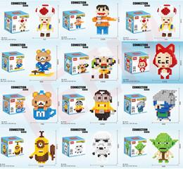 Bloco de urso on-line-DHL Mini Figuras brinquedos urso Man dragonball Blocos crianças presentes de Natal Toy Minifig Endgame tijolo Heads