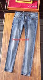 mode design hommes jeans haute qualité Denim pantalons pour hommes tissu 2019 Vente chaude asiatique taille 28-36 Miroir Slim style ? partir de fabricateur
