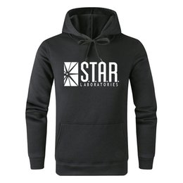 Ropa de laboratorio online-Flash Barry Allen Star Lab Labs Color negro para hombre sudadera Hombres Novedad Star Laboratorles Hoodies Pullover 2019 Ropa masculina W87