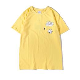 mens t shirts poches Promotion Ripndip Mens Designer D'été T-shirts Chat Dans La Poche Imprimer Homme Tees Col Ras Du Cou À Manches Courtes De Mode Vêtements Casual