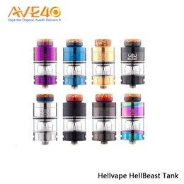 Canada Hellvape Hellbeast réservoir hybride 24mm 4.0ML / 4.3ML / 3.5ML Vaporisateur MTL Vape Tank avec 810 goutte à goutte 100% d'origine cheap hybrid drip tips Offre