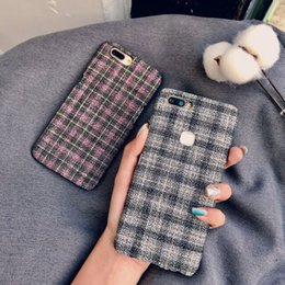 Lindas cubiertas de teléfonos móviles online-Para iPhone 6 7 8 X XS Mas XR Cute Velvet Back Covers moda Plástico duro Velvet leopard print funda para teléfono móvil