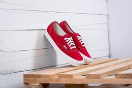 2019 nuevos zapatos de diseño van Vault OG Authentic LX Suede / Canvas Anna heim 4 agujeros low top con cordones zapatos de lona de lona Azul marino patchwork de gamuza desde fabricantes