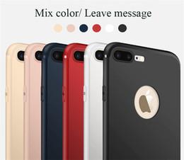 slim cases pour iphone Promotion Slim Soft TPU Housse En Silicone Cover Candy Couleurs Mat Téléphone Cas Cas Shell avec Dust Cap Pour iPhone X 8 7 6 Plus SCA520