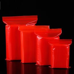 sacos ziplock vermelhos Desconto O saco ziplock 12 * 17 vermelho coloriu o saco ziplock 12silk PE espessado
