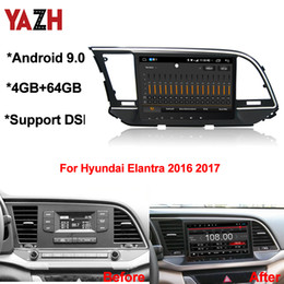 2020 hyundai do bluetooth tv YAZH Android 9.0 Car DVD GPS Unidade de cabeça para Hyundai Elantra 2016 2017, com 4 + 64GB Auto Rádio DSP Bluetooth 5.0 Octa Núcleo Multimedia Player hyundai do bluetooth tv barato
