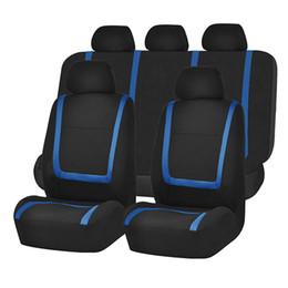 2019 copri sedile auto blu Coprisedili universali per auto Accessori interni Airbag Coprisedili compatibili Cuscino protettore grigio blu rosso Auto protezione sconti copri sedile auto blu
