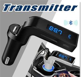 2019 iphone bluetooth carro acessórios Transmissor FM Bluetooth In-Car Adaptador FM Car Kit com Carregador de Carro USB para iPhone, Samsung, LG, HTC Android Smartphone 20 pcs