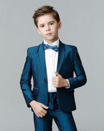 Trajes azul marino para niños online-2020 diseñadores adapte a Azul marino infantiles para juegos de la boda ocasión partido muchacho determinado de la ropa de los niños se adapta a las chaquetas, chaqueta para los niños
