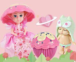 Mini juguetes para niñas online-Nuevo Ángel Caliente Dormir Bebé Decoración Pastel Muñeca Princesa Juguete creativo Dress Up Girl Decorar Regalo